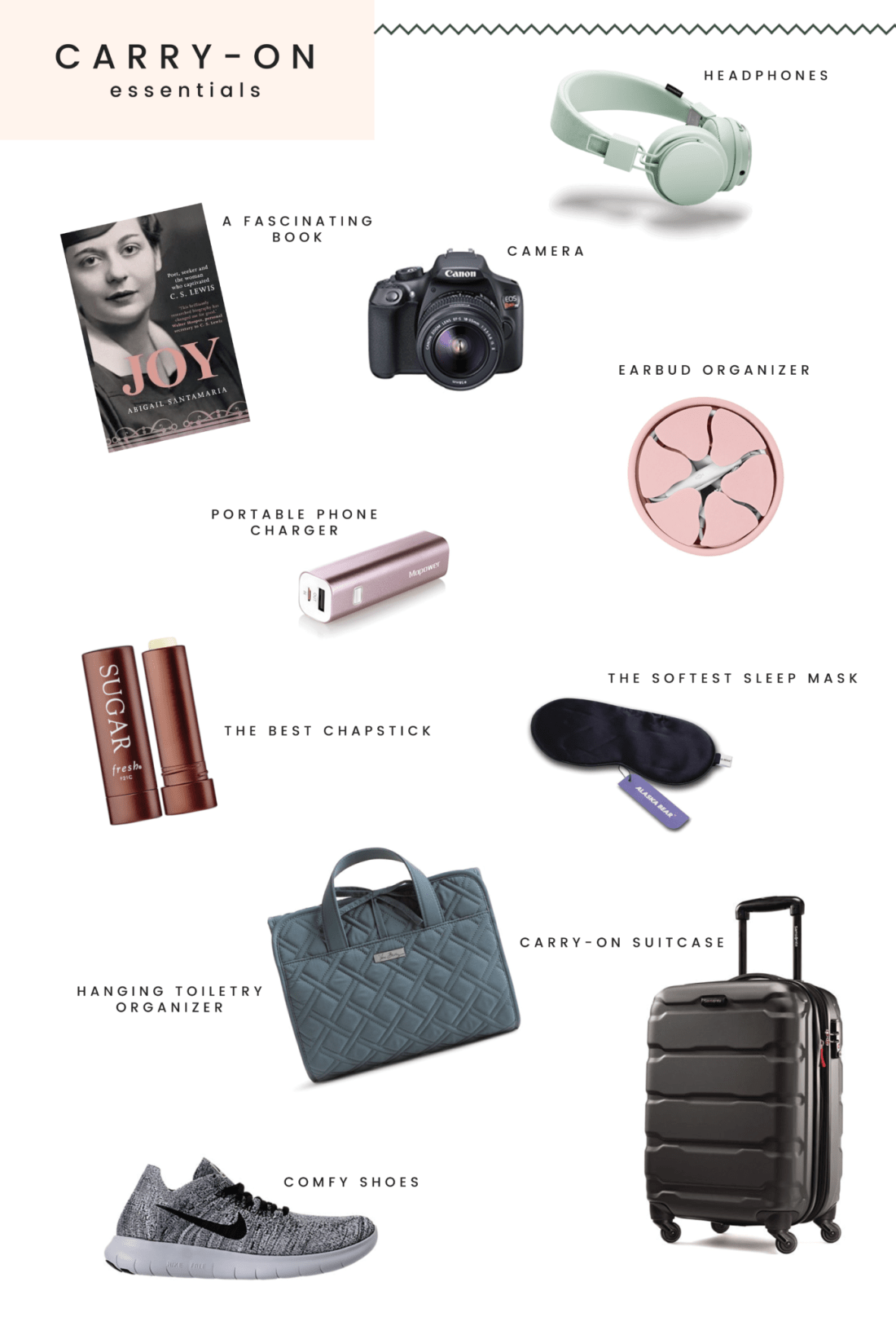 Carry-on essentials for plane // what's in my airplane bag // travel essentials