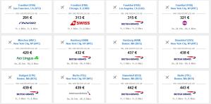 In di USA ab 291 € fliegen