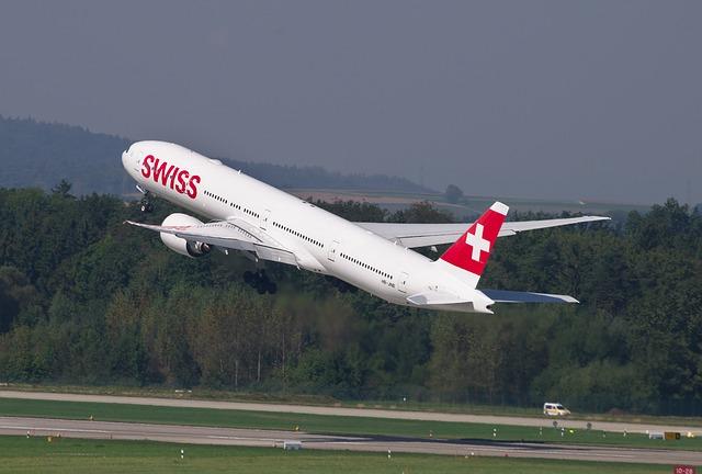 SWISS am Frankfurter Flughafen