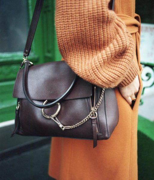 Mini Faye Day leather shoulder bag Chlo DgwUQ