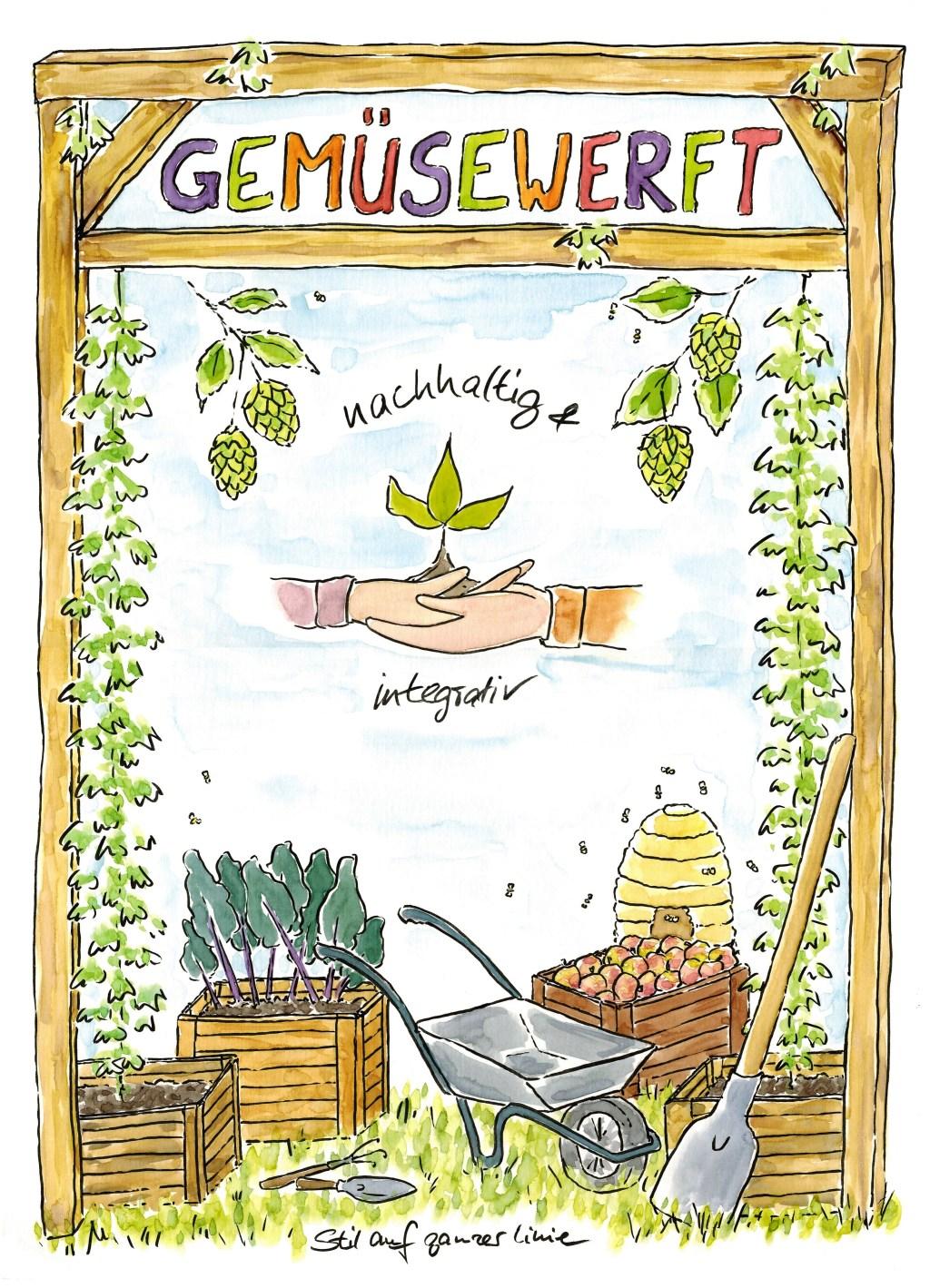 Illustration, ökologisch, Nahrungsmittel, ökologische Landwirtschaft, Illustrator Bremen