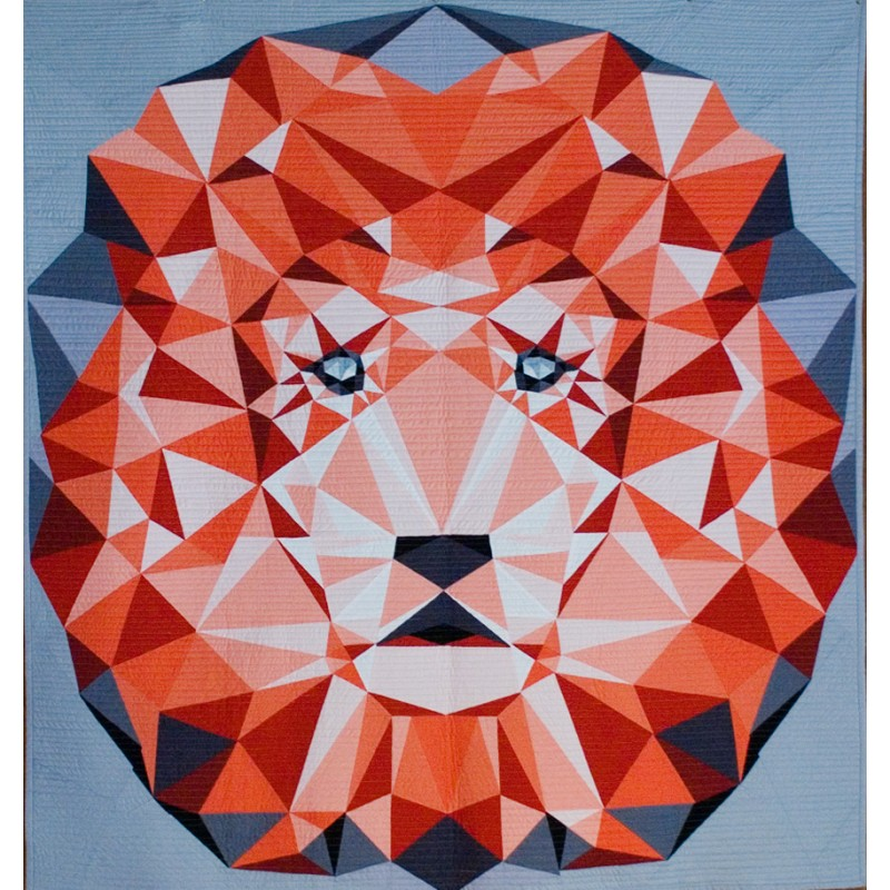 the jungle abstractions quilt the lion le lion modele de patchwork