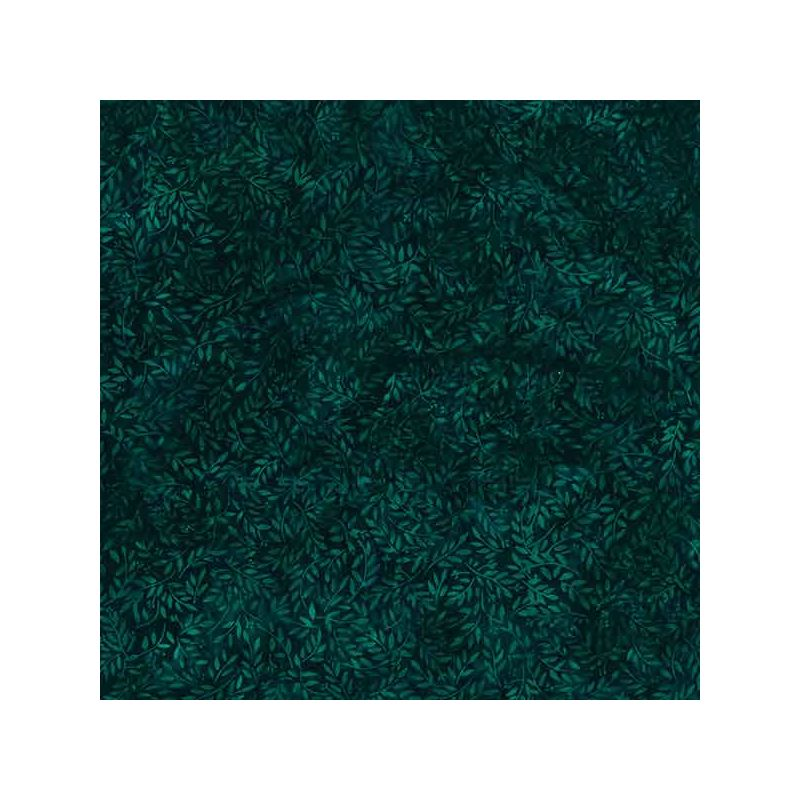 tissu batik buisson vert emeraude fonce