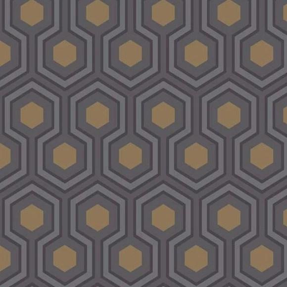 Papier peint gomtrique violet Hicks Hexagon  Cole and Son  Au fil des Couleurs