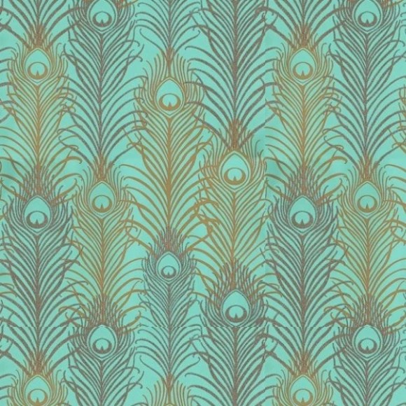 Animal Print Wallpaper For Walls Papier Peint Vert Jade Et Or M 233 Tallis 233 Motif Plume De Paon