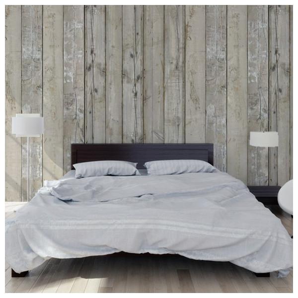 papier peint planches en bois blanc