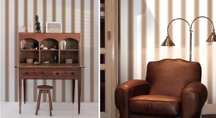 Papiers Peints Pour Un Bureau De Style Anglais Blog Au Fil Des Couleurs Papiers Peints Et Decors Muraux
