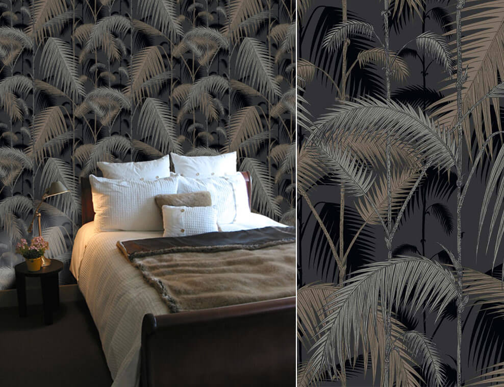 Papiers peints noirs pour une chambre sophistique  Blog Au fil des Couleurs  Papiers peints