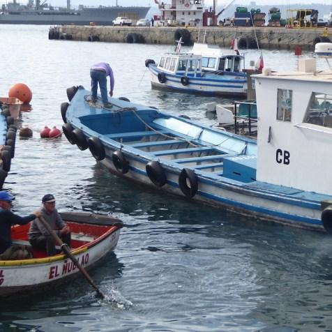 Chile-Valparaiso-Hafenrundfahrt-Beiboot