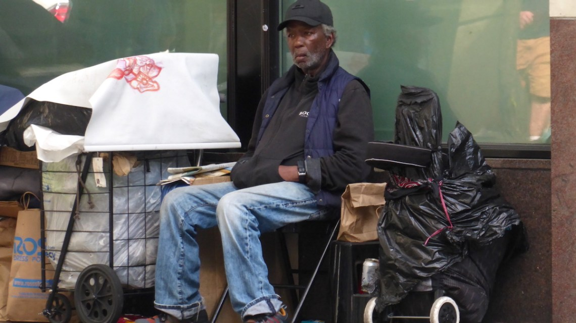 Weltreise USA Seattle Obdachloser | aufmerksam reisen