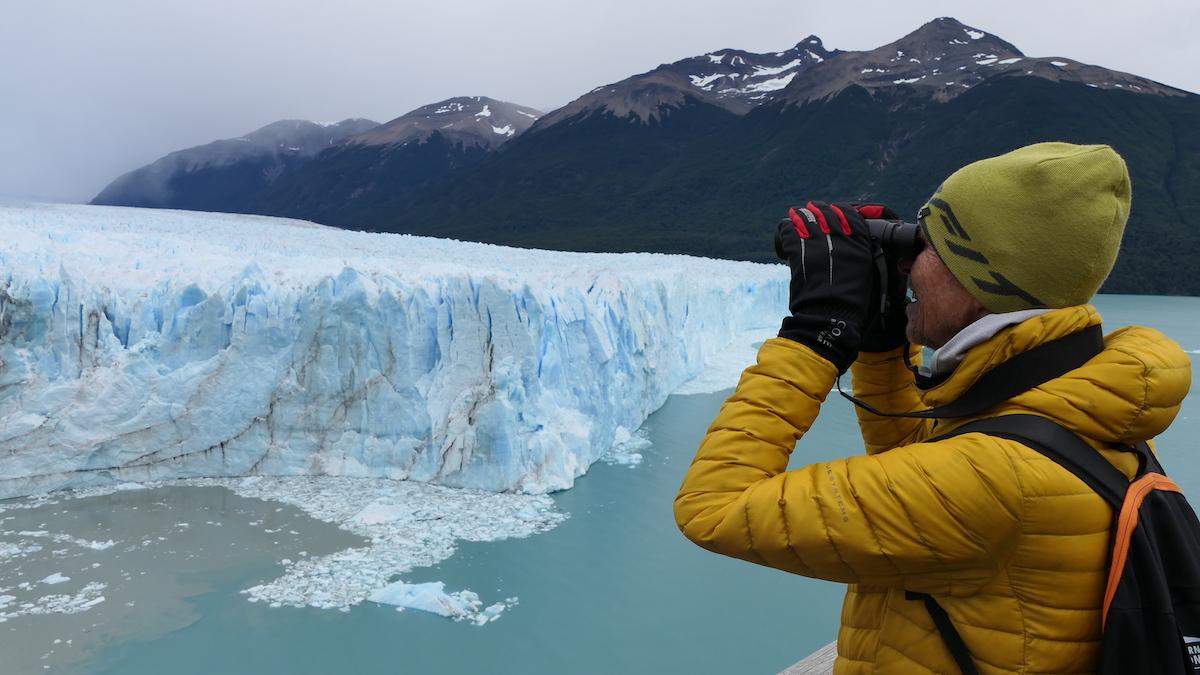 Wolfgang Eckart am Perito-Moreno-Gletscher in Argentinien