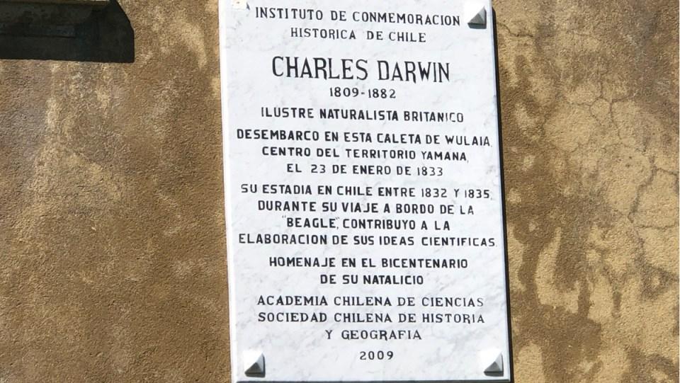 Erinnerungstafel für Charles Darwin