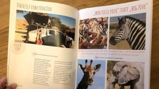 Weltreise-Magazin, Doppelseite Namibia