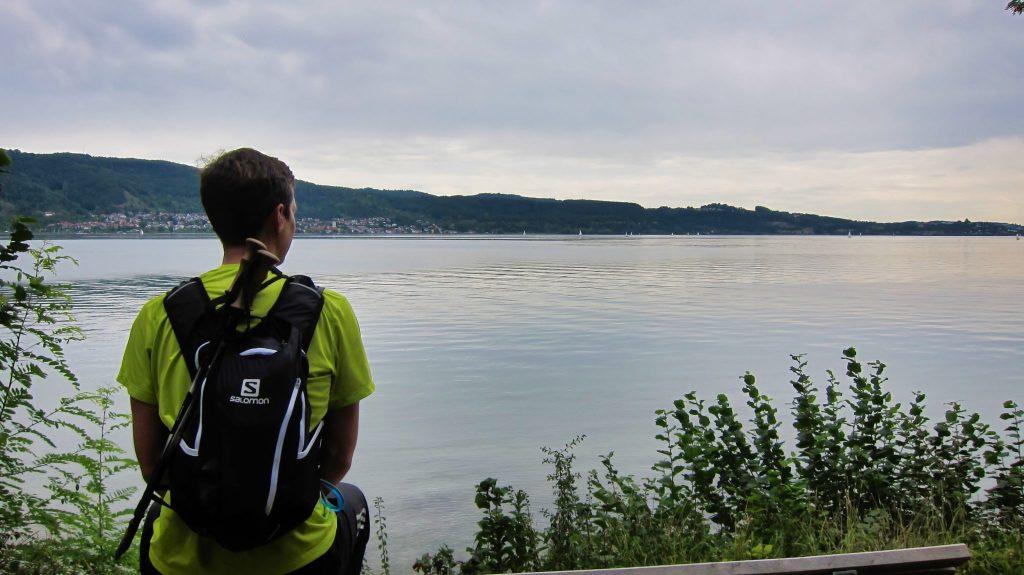 Wanderweg Seegang: Pause kurz vor Bodman