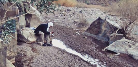 Wasser filtern in der Wüste