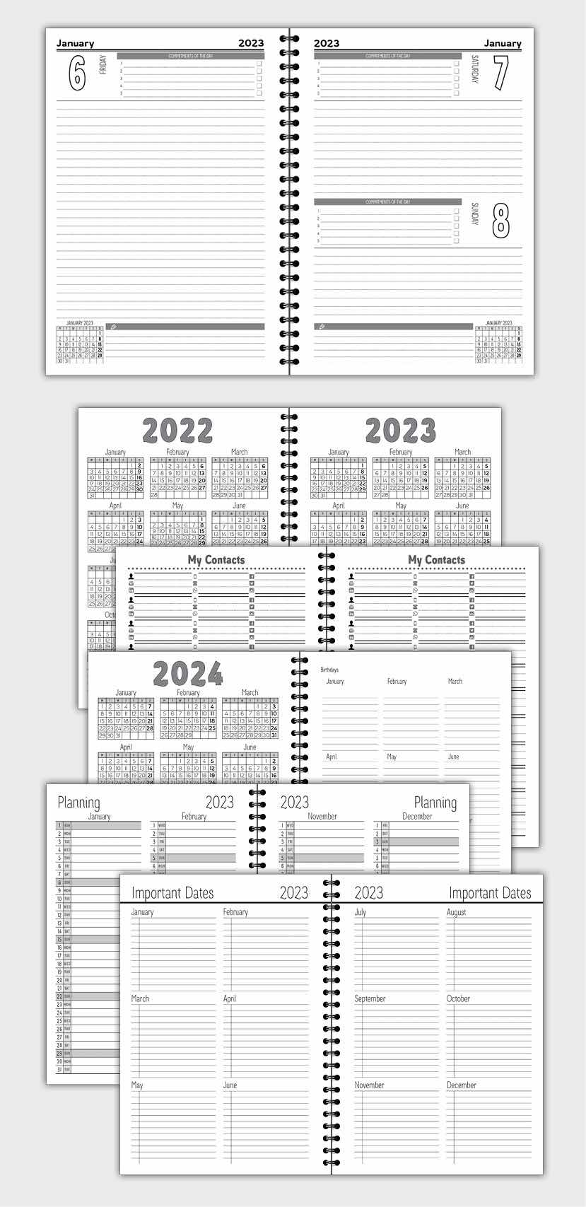 2021 DAILY PLANNER AGENDA TEMPLATE MODEL ATD14
