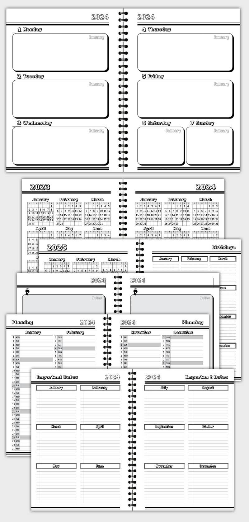 2021 DAILY PLANNER AGENDA TEMPLATE MODEL ATD40