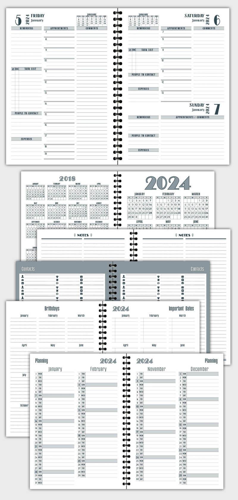 2021 DAILY PLANNER AGENDA TEMPLATE MODEL ATD75