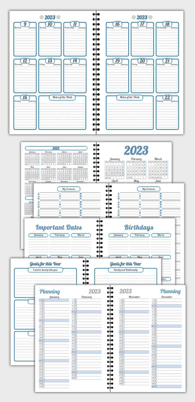 2020 DAILY PLANNER AGENDA TEMPLATE MODEL ATD76