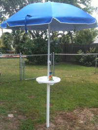 Beach Umbrella Holder Table Great for Corn Hole and ...