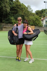 Ladies Singles finalists Vicky Size and Lisa Edwards
