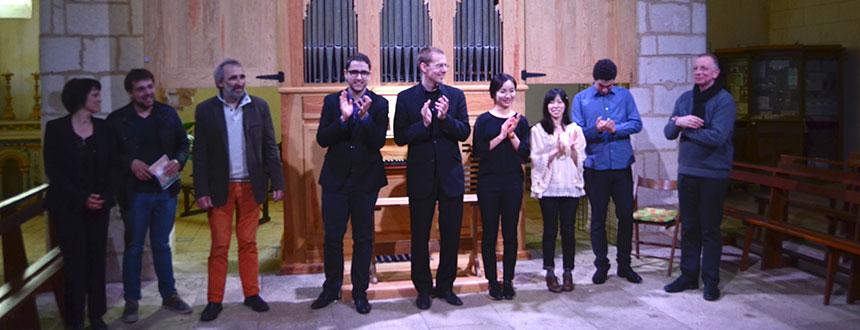 Retour sur la master-class à l'orgue de Pranzac