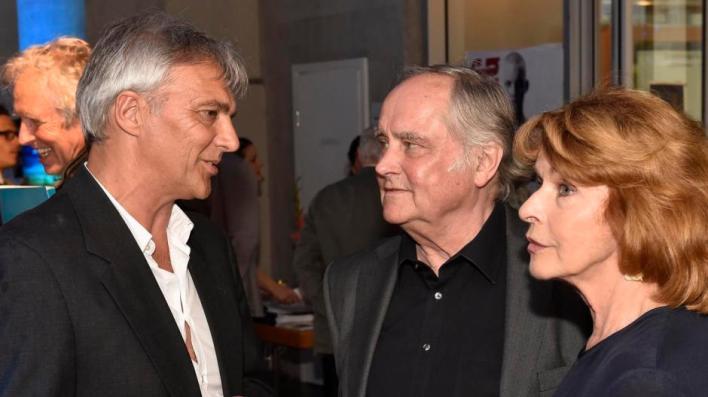 Fünf-Seen-Filmfestivalleiter Matthias Helwig (links) mit Senta Berger und Michael Verhoeven.