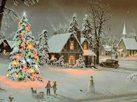 Immagini Natale Paesaggio Natalizio