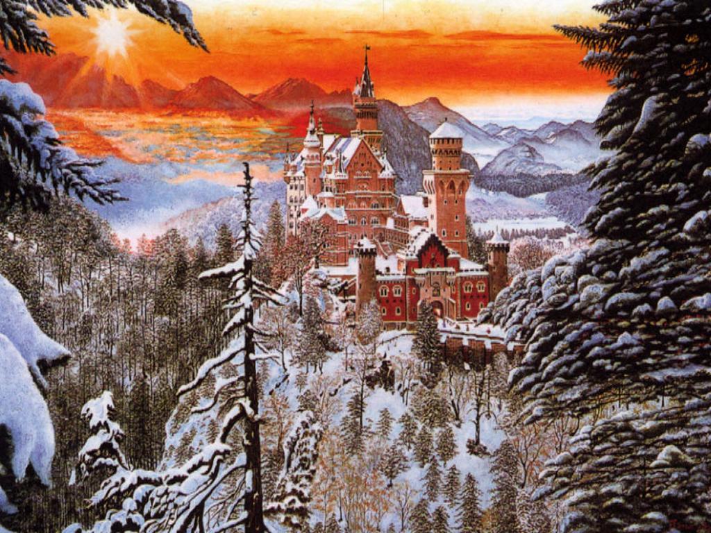 Troverai tanti sfondi di natale di simpatici pupazzi di neve, alberi di natale, candele e paesaggi di natale in occasione del santo natale. Bello Sfondo Di Natale Castello Per Desktop