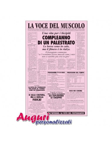 Giornale di auguri per il compleanno di uno sportivo