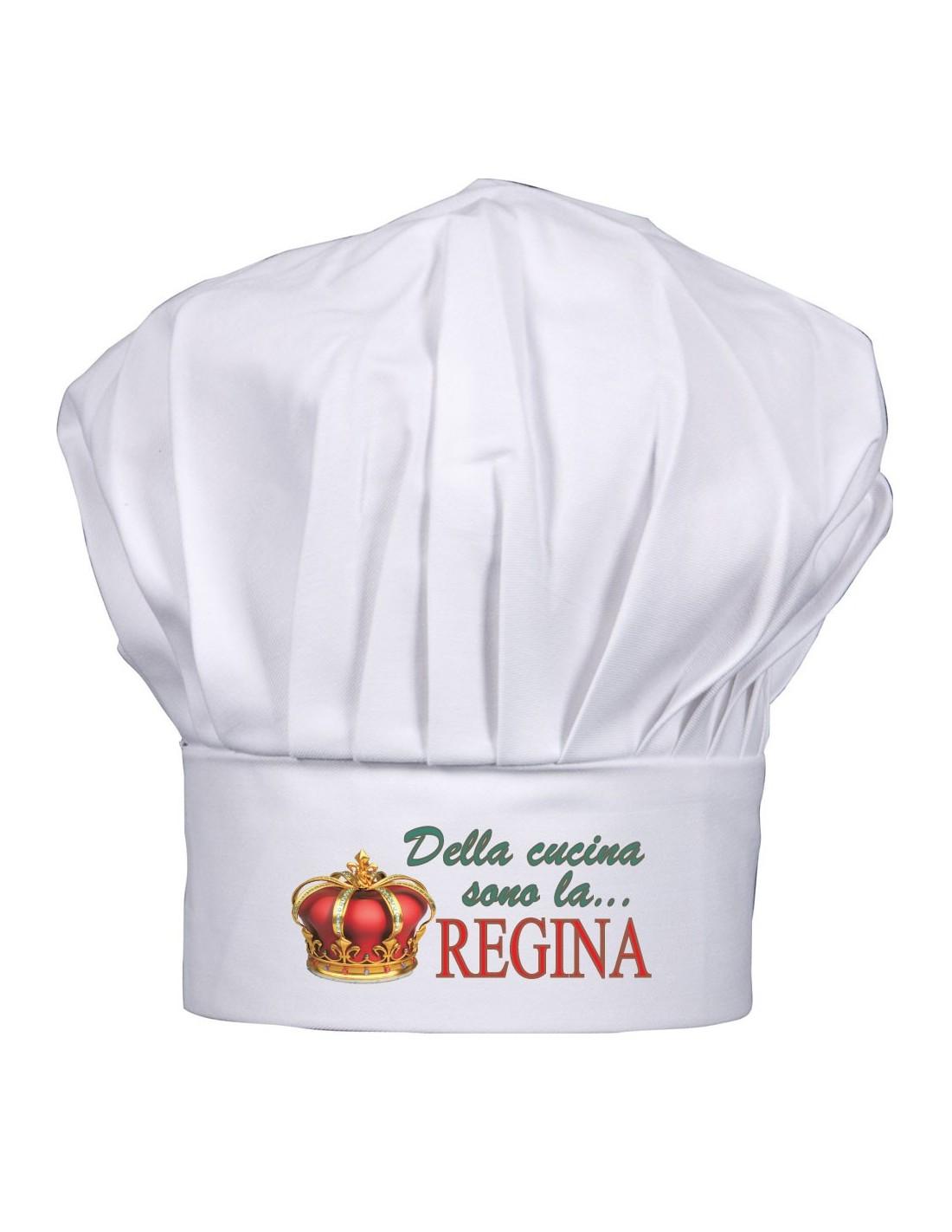 Cappello cuoco Regina  Auguri personalizzati