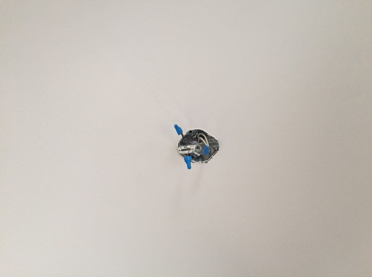Replacing a ceiling mounted light