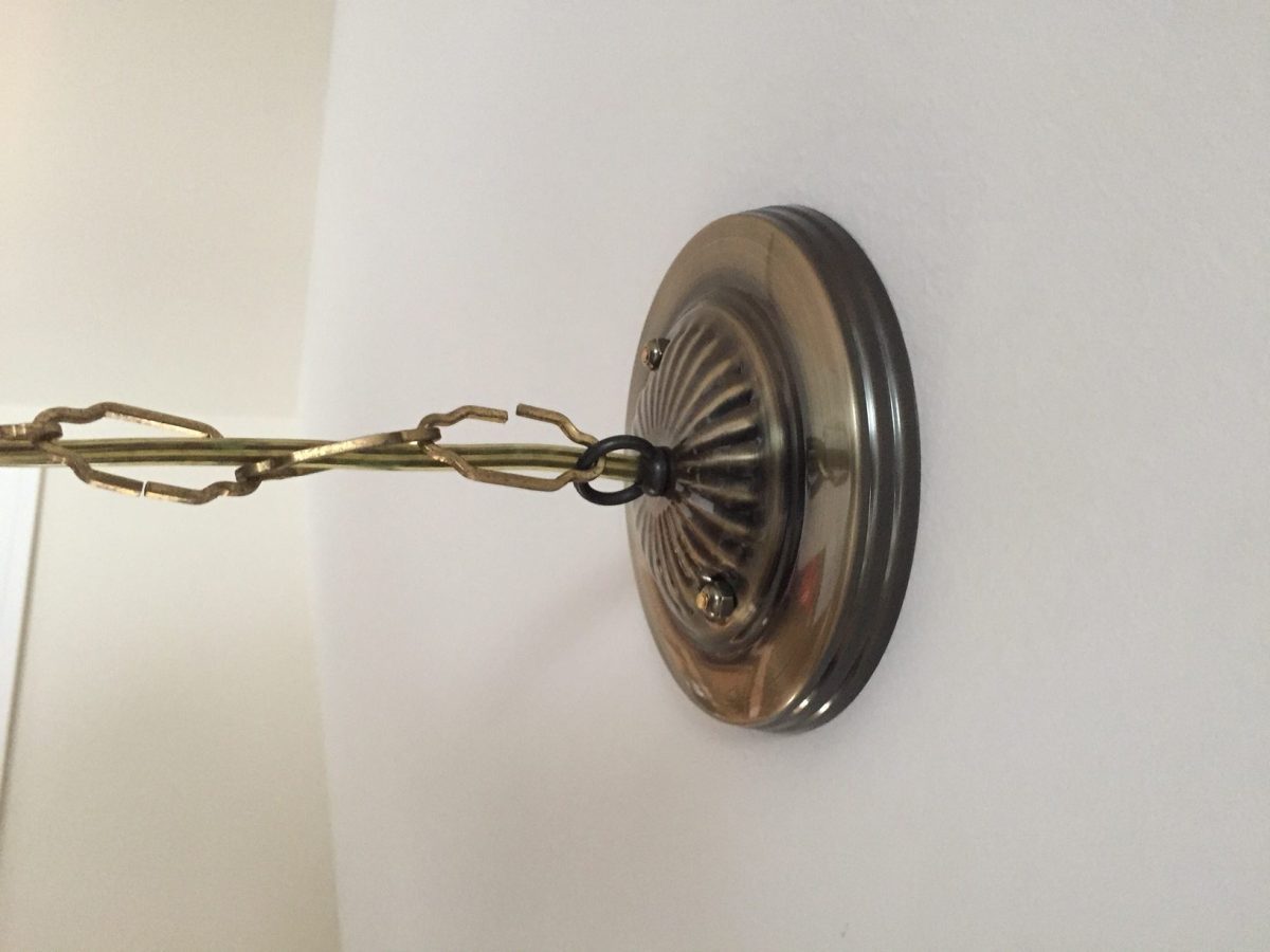 Mounting a new ceiling light