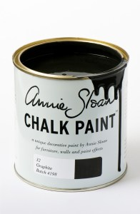 Annie Sloan Graphite Chalk Paint.