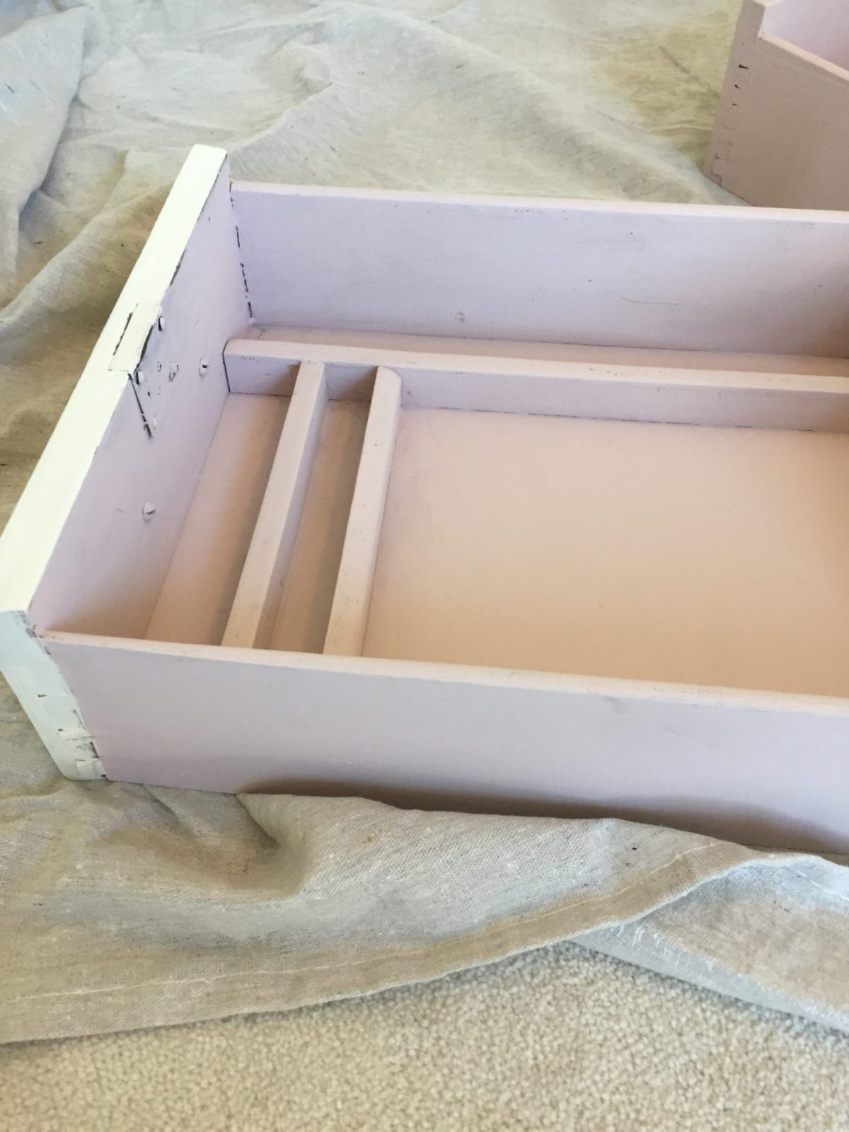 distressed white and pink patina shabby chic brass and paint hardware