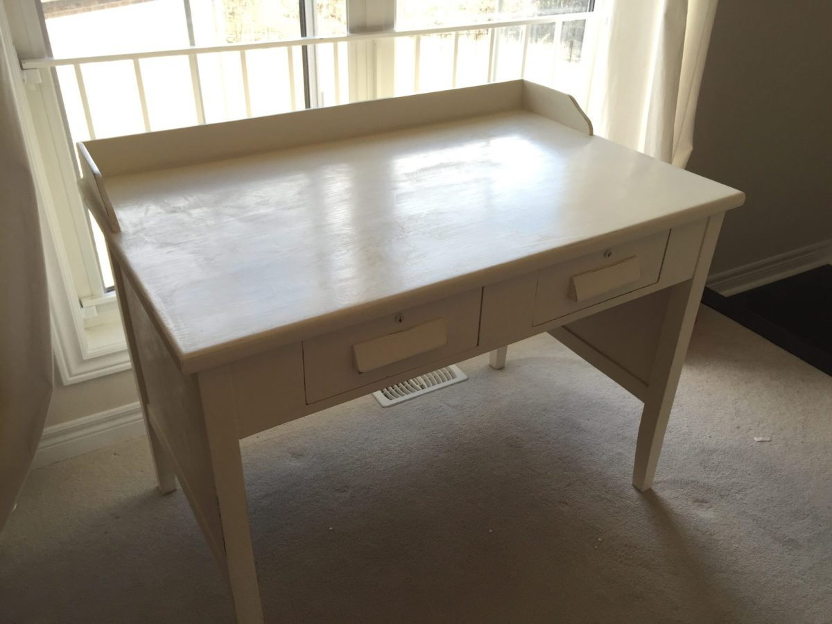 Antique Teachers Desk Restored