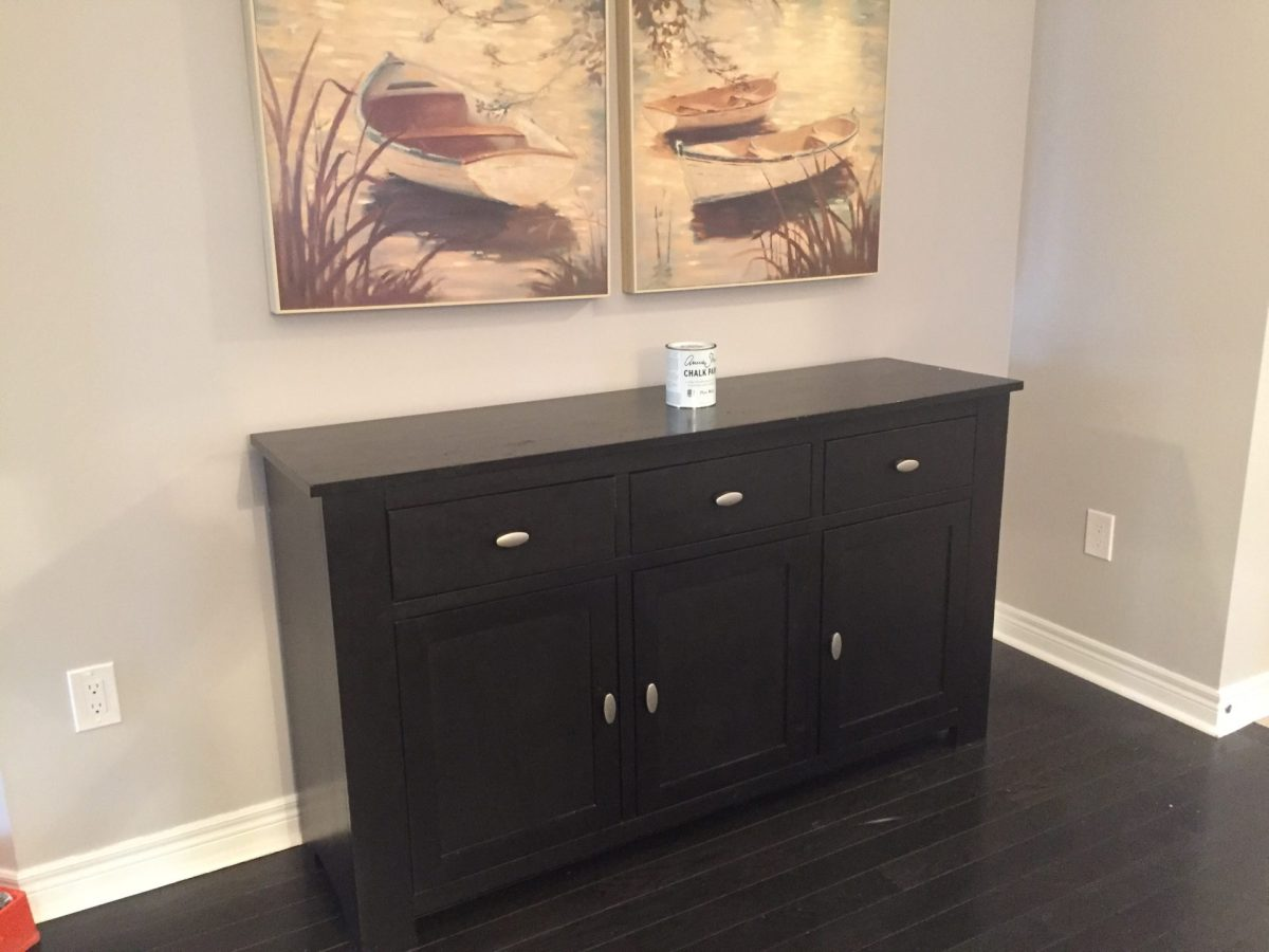 Refinished Dining Room Buffet in Annie Sloan Chalk Paint