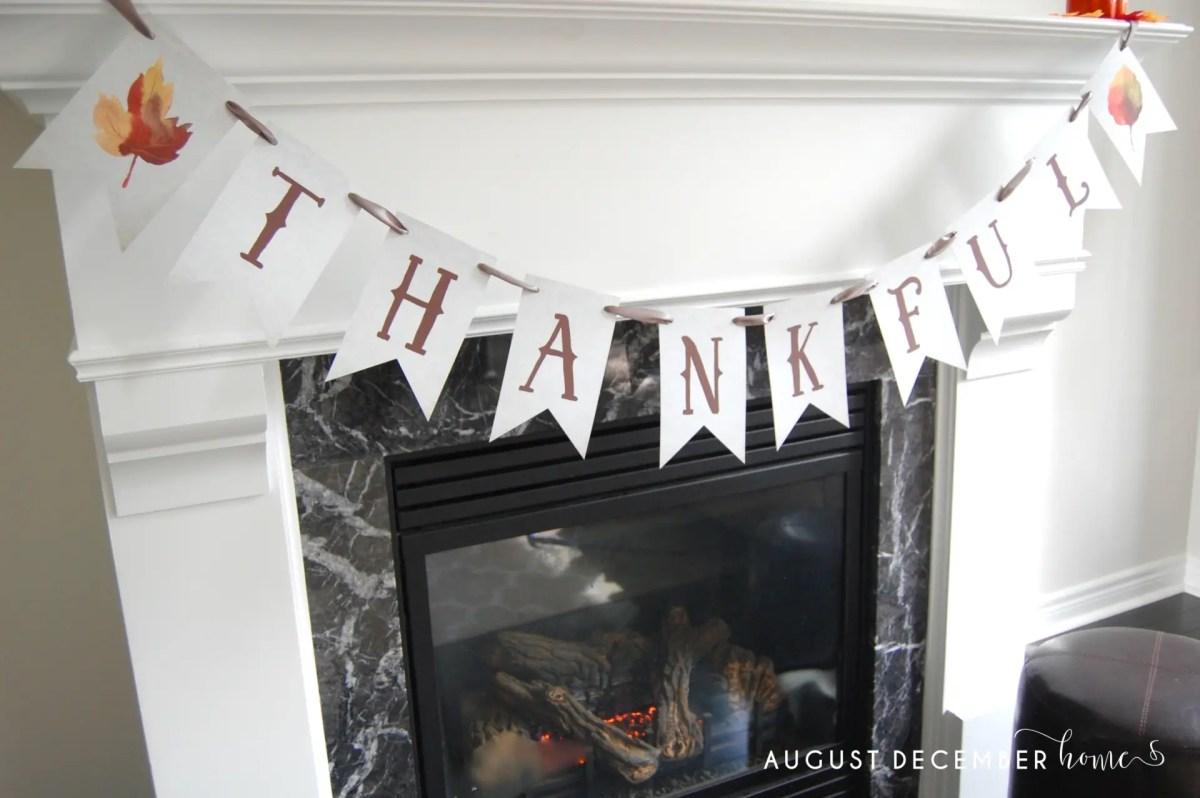 Printable Thanksgiving Banner