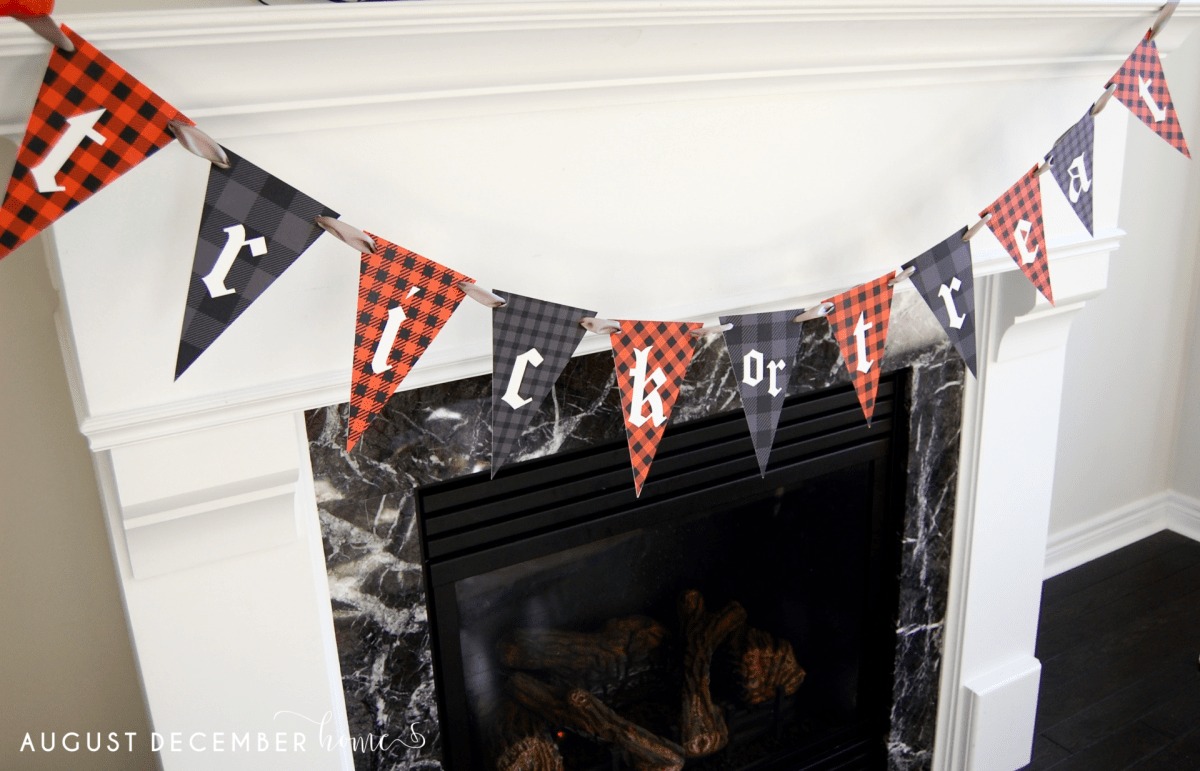 Print at Home Halloween Banner Trick or treat