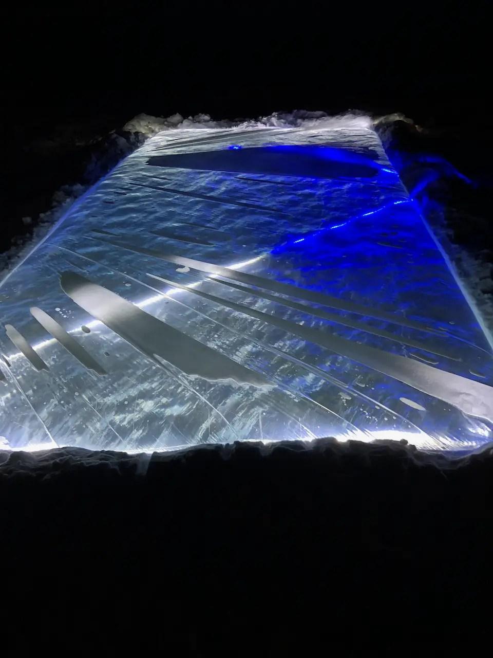 backyard ice rink lights