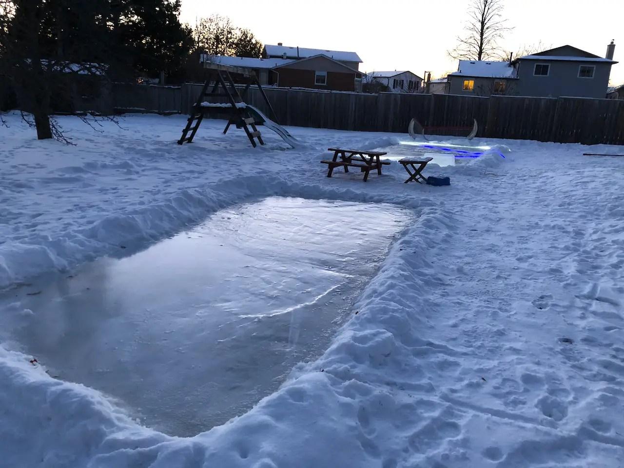 backyard ice rink kit