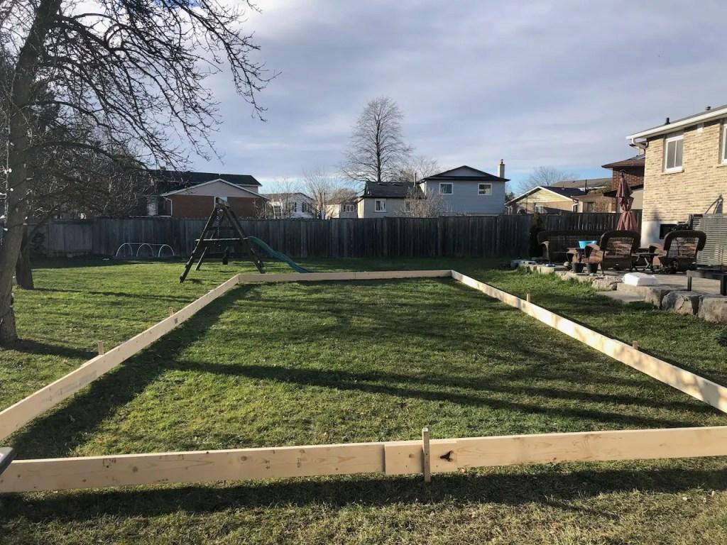 Backyard Ice Rink DIY  - Frame Assembly