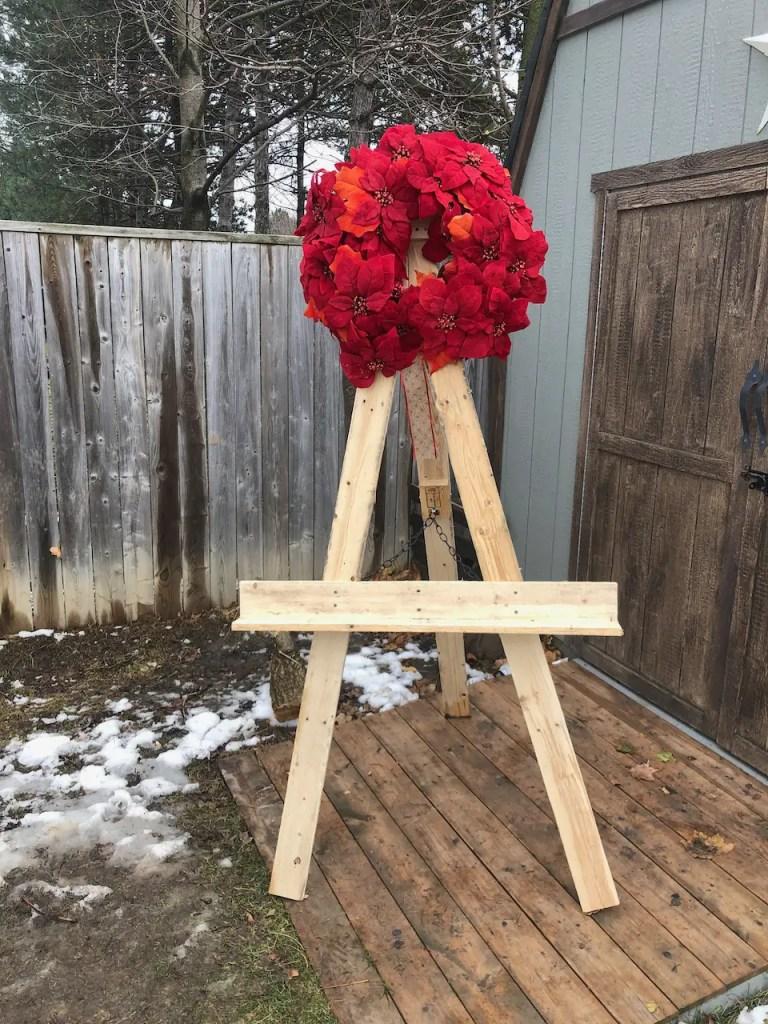 wreath easel, kids art easel, whiteboard easel