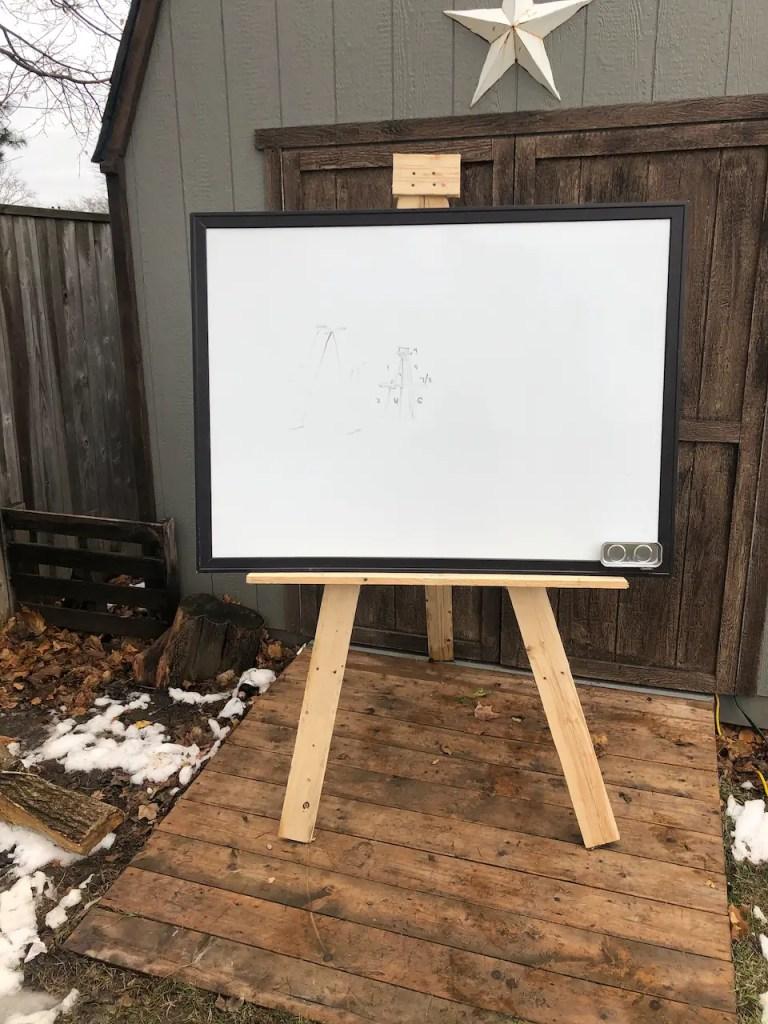 Wood Pallet Easel - Art Easel for Kids
