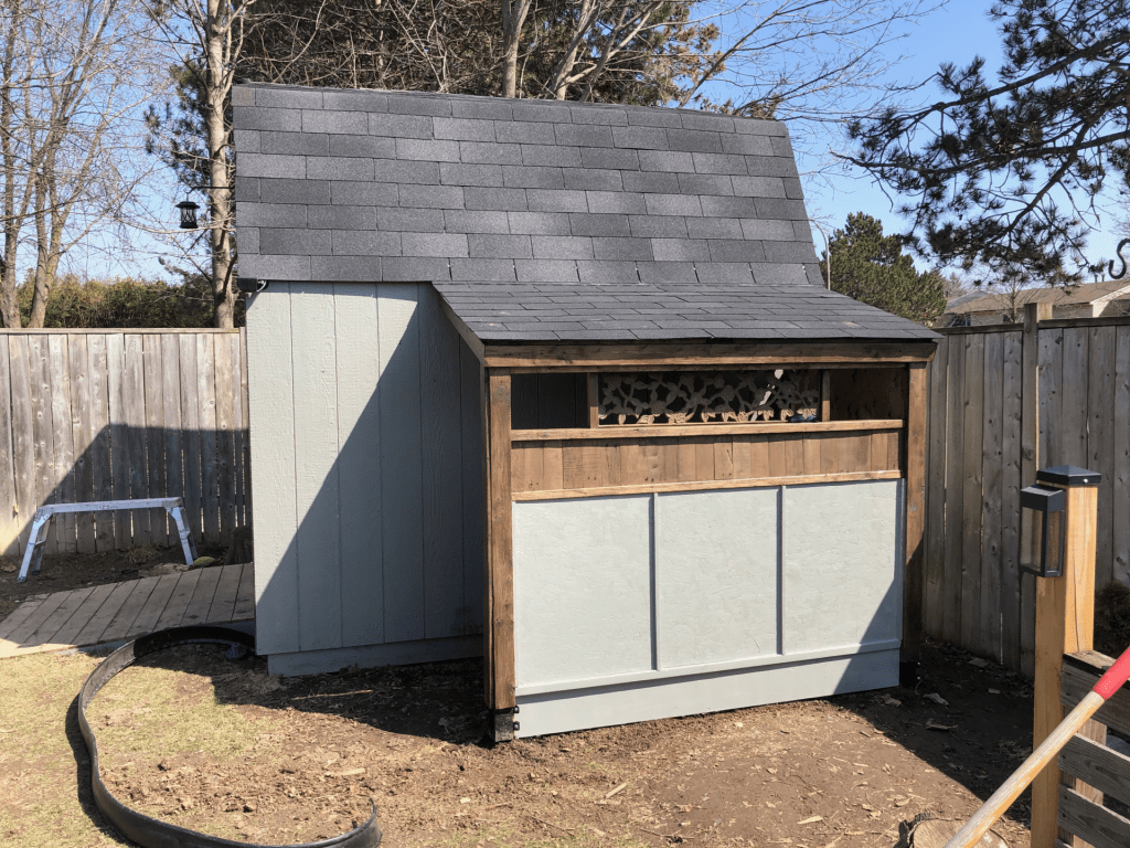 paint and stain for a carport shed diy project