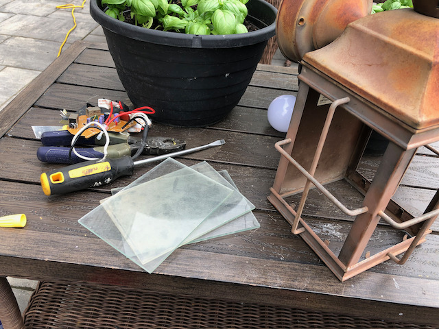 Exterior lamp restoration process