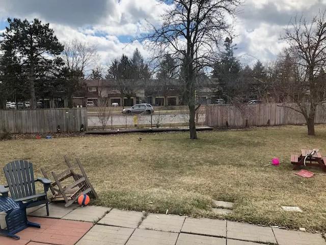 poorly kept backyard slab patio