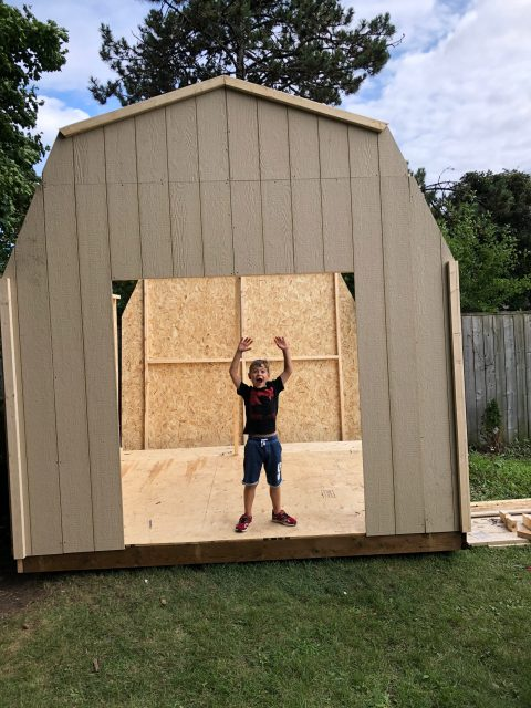 building a large barn style 10x10 shed from home depot