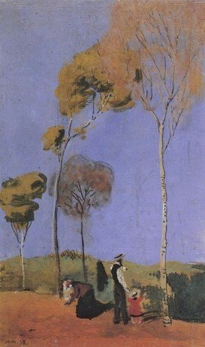 August Macke  The Complete Works  Couple In The Forest