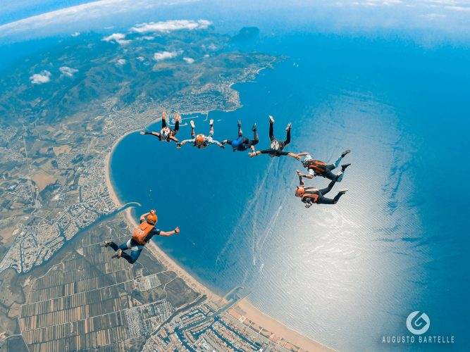 Photo over Skydive Empuriabrava of the city and rosas